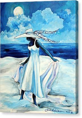 Beach Blues Canvas Print by Diane Britton Dunham