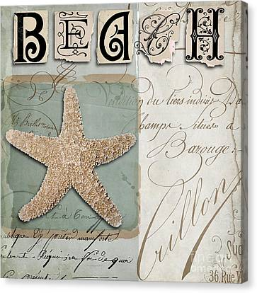 Beach Book II Canvas Print by Mindy Sommers