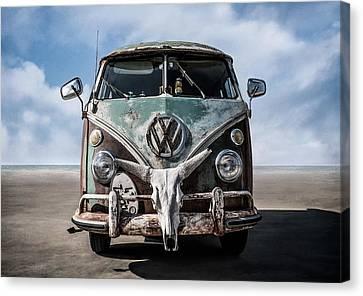 Beach Bum Canvas Print by Douglas Pittman