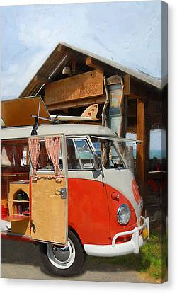 Beach Bus Canvas Print by Ron Regalado