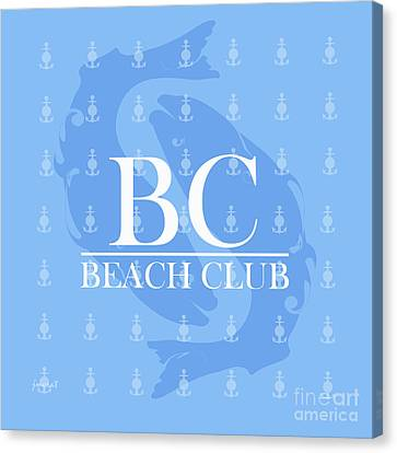 Beach Club 2 Canvas Print by Johannes Murat