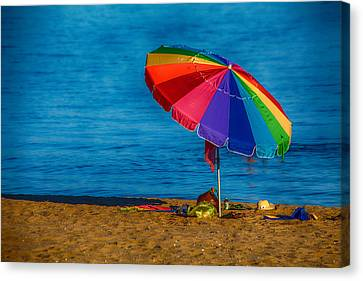 Beach Colors Canvas Print by Karol Livote