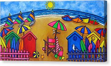 Beach Colours Canvas Print by Lisa  Lorenz