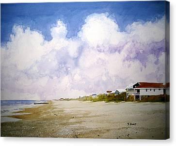 Beach Cottages Canvas Print by Shirley Braithwaite Hunt