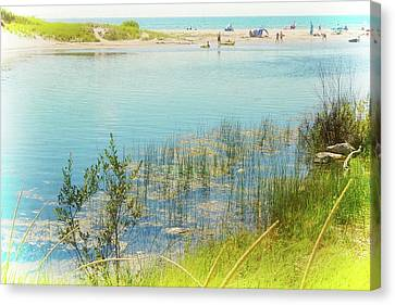 Beach Day In August Canvas Print by Michelle Calkins