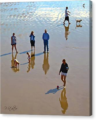 Beach Family Canvas Print by Patricia Stalter