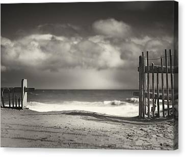 Beach Fence - Wellfleet Cape Cod Canvas Print by Dapixara Art