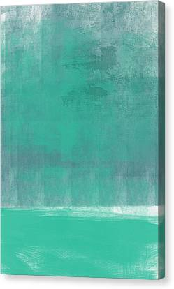 Beach Glass- Abstract Art Canvas Print by Linda Woods