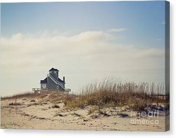 Beach House Canvas Print by Joan McCool