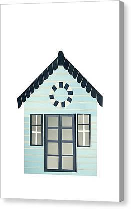 Beach Hut Canvas Print by Isobel Barber