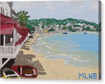 Beach In Grand Case Canvas Print by Margaret Brooks