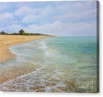 Beach Krapets Canvas Print by Kiril Stanchev