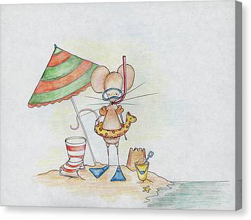 Beach Mouse Canvas Print by Sarah LoCascio