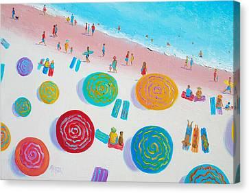 Beach Painting - A Walk In The Sun Canvas Print by Jan Matson