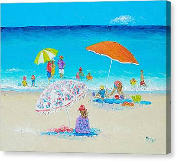 Beach Painting - Blazing Hot  Canvas Print by Jan Matson