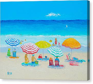 Beach Painting - Catching The Breeze Canvas Print by Jan Matson