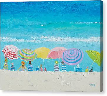 Beach Painting - Color Of Summer Canvas Print by Jan Matson