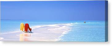 Beach Scenic The Maldives Canvas Print by Panoramic Images
