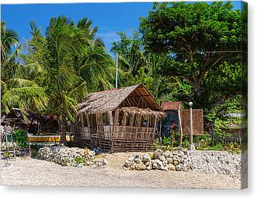 Beach Side Nipa Hut Canvas Print by James BO Insogna