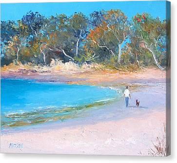 Beach Stroll Canvas Print by Jan Matson