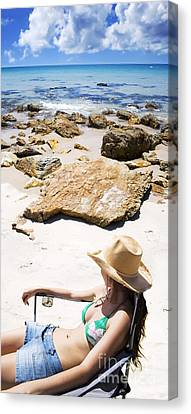 Beach Woman Canvas Print by Jorgo Photography - Wall Art Gallery