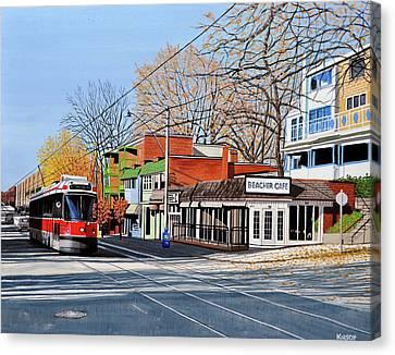 Beacher Cafe Canvas Print by Kenneth M  Kirsch