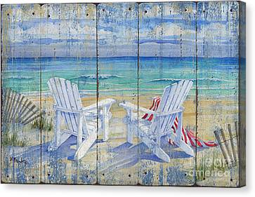 Beachview Distressed Canvas Print by Paul Brent