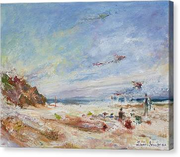 Beachy Day - Impressionist Painting - Original Contemporary Canvas Print by Quin Sweetman