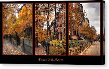 Beacon Hill Canvas Print by Joann Vitali