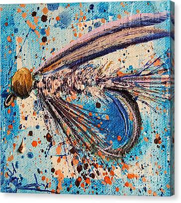 Beadhead Nymph Canvas Print by Jodi Monahan