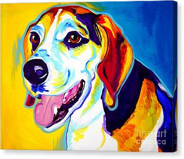 Beagle - Lou Canvas Print by Alicia VanNoy Call