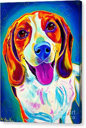 Beagle - Lucy Canvas Print by Alicia VanNoy Call