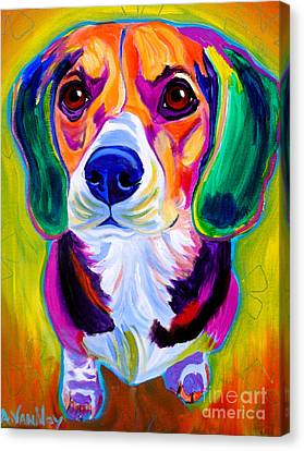 Beagle - Molly Canvas Print by Alicia VanNoy Call