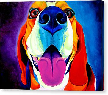 Beagle - Lollipop Canvas Print by Alicia VanNoy Call
