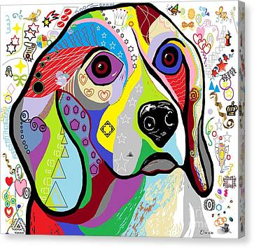 Beagle Canvas Print by Eloise Schneider
