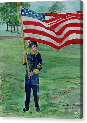 Beaming With American Pride Canvas Print by Jeannie Allerton