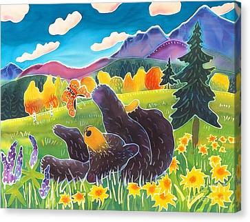 Bear And The Butterfly Canvas Print by Harriet Peck Taylor