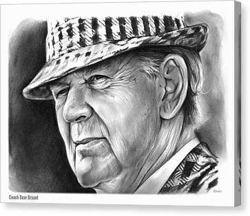 Bear Bryant Canvas Print by Greg Joens