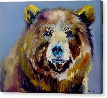 Bear Exposed Canvas Print by Diane Whitehead