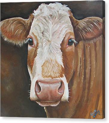Bear Canvas Print by Laura Carey