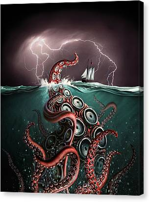 Beast 2 Canvas Print by Jerry LoFaro