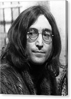 Beatles - John Lennon Canvas Print by Chris Walter