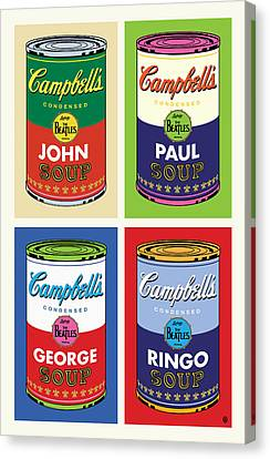Beatles Soup Canvas Print by Gary Grayson