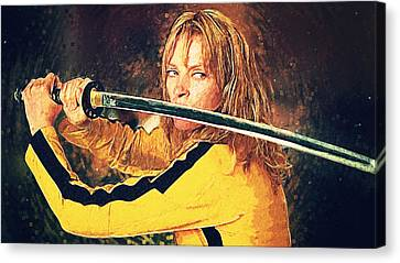 Beatrix Kiddo - Kill Bill Canvas Print by Taylan Soyturk