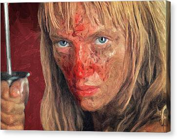 Beatrix Kiddo Canvas Print by Taylan Soyturk