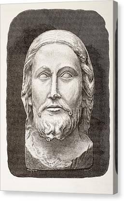Beau-dieu D Amiens. The Beautiful God Canvas Print by Vintage Design Pics