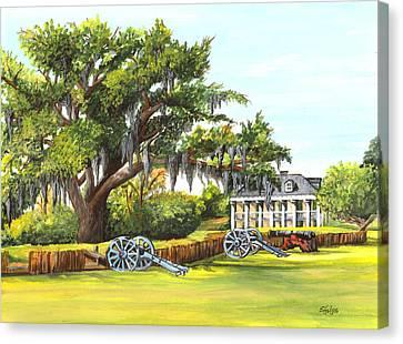 Beauregard House Canvas Print by Elaine Hodges
