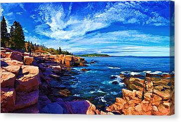 Beautiful Day At Acadia Canvas Print by ABeautifulSky Photography