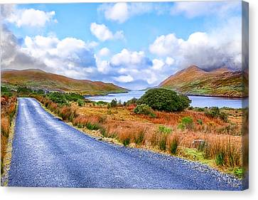 Beautiful Irish Countryside Of County Galway Canvas Print by Mark E Tisdale