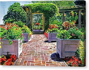 Beautiful Italian Gardens Canvas Print by David Lloyd Glover